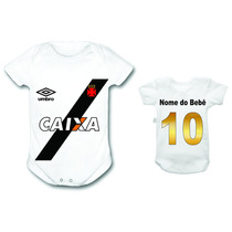 Body Bebê Personalizado Vasco Time Futebol Infantil