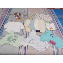 Lote Roupa Bebê Menino P E M Body Calças Camisetas