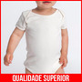 Body Bebê Branco Menino Menina Roupa Infantil Barata Bodies