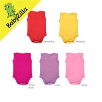 Body Regata Liso Para Bebês - Babyzilla