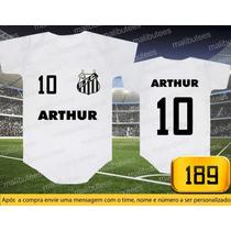 Body Ou Camisetas Times Santos Brasileiros Personalizado