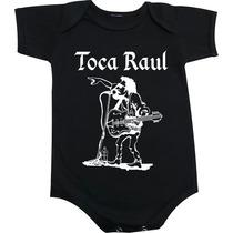 Body De Bebê Toca Raul - Seixas Rock Clássico Personalizados