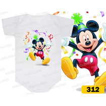 Body Mickey Personagem Personalizados Infantil Bori Bebê