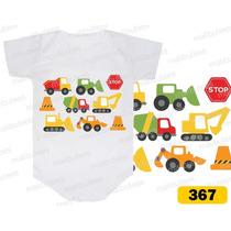 Body Caminhão, Trator, Cone Personalizado Infantil Bori Bebê