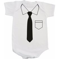 Body De Bebê Divertido Menino - Camisa Com Gravata