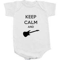 Body - Keep Calm And Play Guitar - Modelo 01 - Personalizado