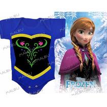 Frozen Body Fantasia Bebê Frozen Anna Bebê Infantil