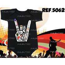 Body Bori Bebe Rock Bandas Mão Do Rock 100% Algodão