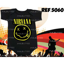 Body Bori Bebe Rock Bandas Nirvana Kiss 100% Algodão