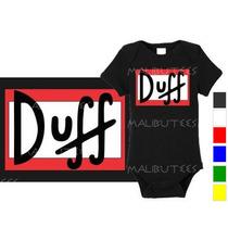Body Infantil Personalizado Duff Da Hora Herois