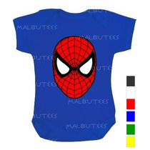 Body Bebê Infantil Personalizado Homem Aranha Super Herois