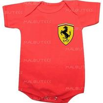 Body Infantil Personalizado Vermelho Logo Escuderia Ferrari