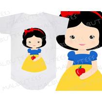 Body Branca De Neve Princesa Infantil Personalizado