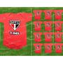 São Paulo Kit 12 Body Infantil Mesversario Tricolor Paulista