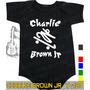 Body Charlie Brown Jr Preto Infantil Bebê Rock Metallica
