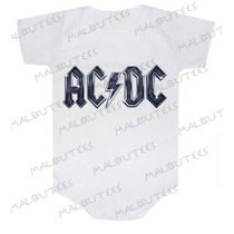 Body Acdc Metallica Rock Bandas Bebê Infantil Personagens