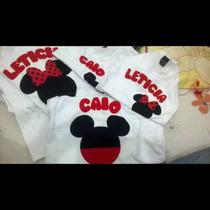 Camisas E Bodys Personalizados Minnie E Mickey