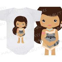 Body Pocahontas Princesa Infantil Personalizado Personagens
