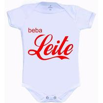Body De Bebê Divertido - Beba Leite