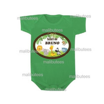 Body Safari Infantil Personalizado Com Nome - Bichos Selva