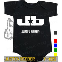 Body Justin Bieber Preto Infantil Bebê Rock Metallica Acdc