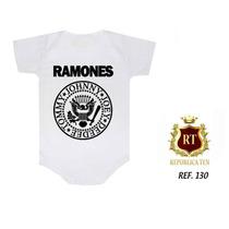 Body Infantil Bodies Personalizados Divertidos Rock Bandas