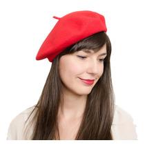 Boina Francesa Vermelha Fashion
