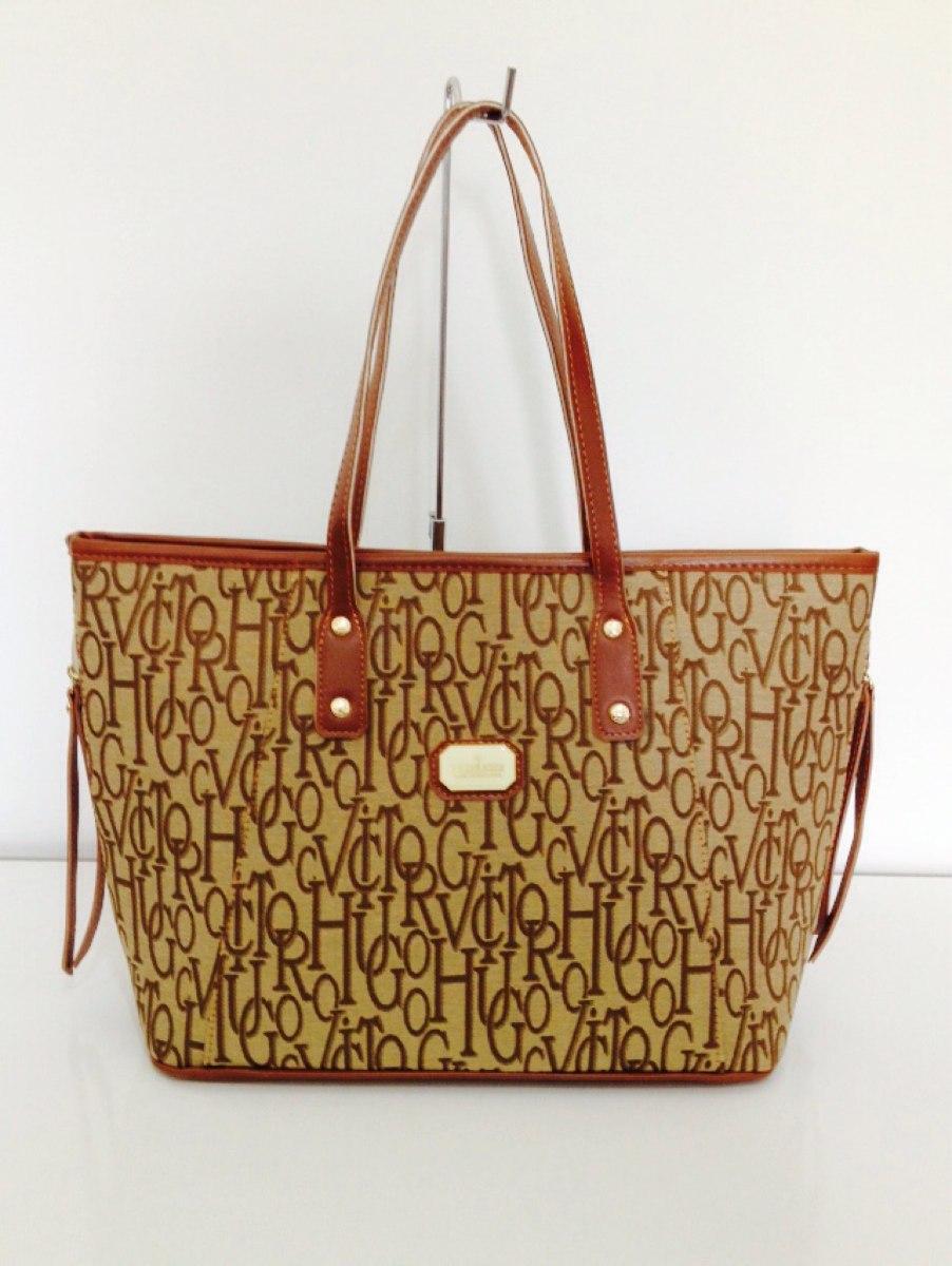 Bolsa Dourada Importada : Bolsa feminina importada vitor hugo bege marrom r