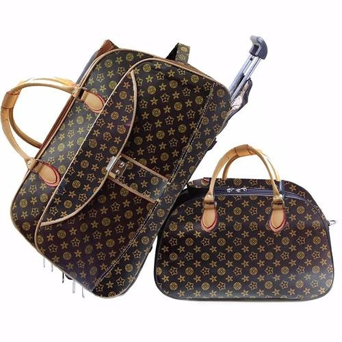 Bolsa De Viagem De Mão Feminina : Bolsa mala de viagem feminina oncinha com rodinha