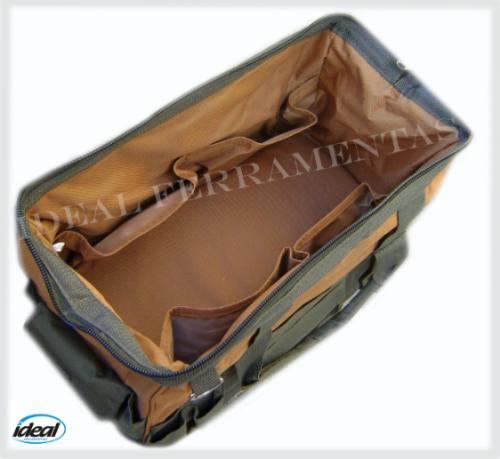 Bolsa Maleta Multiuso De Lona C/37bolsos 45cm P/ Ferramentas