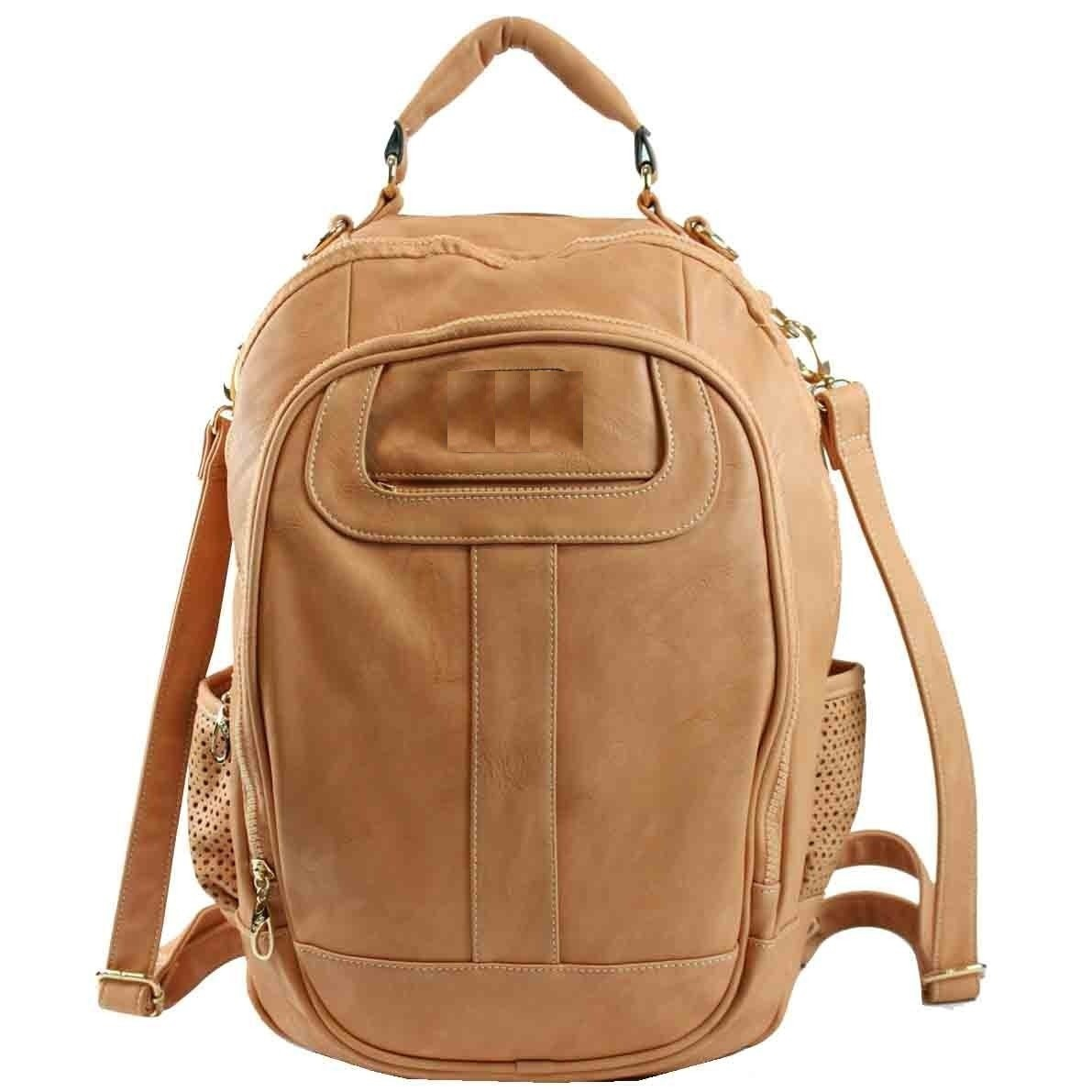 Bolsa Feminina Couro : Eu moda bolsa tipo mochila feminina de couro