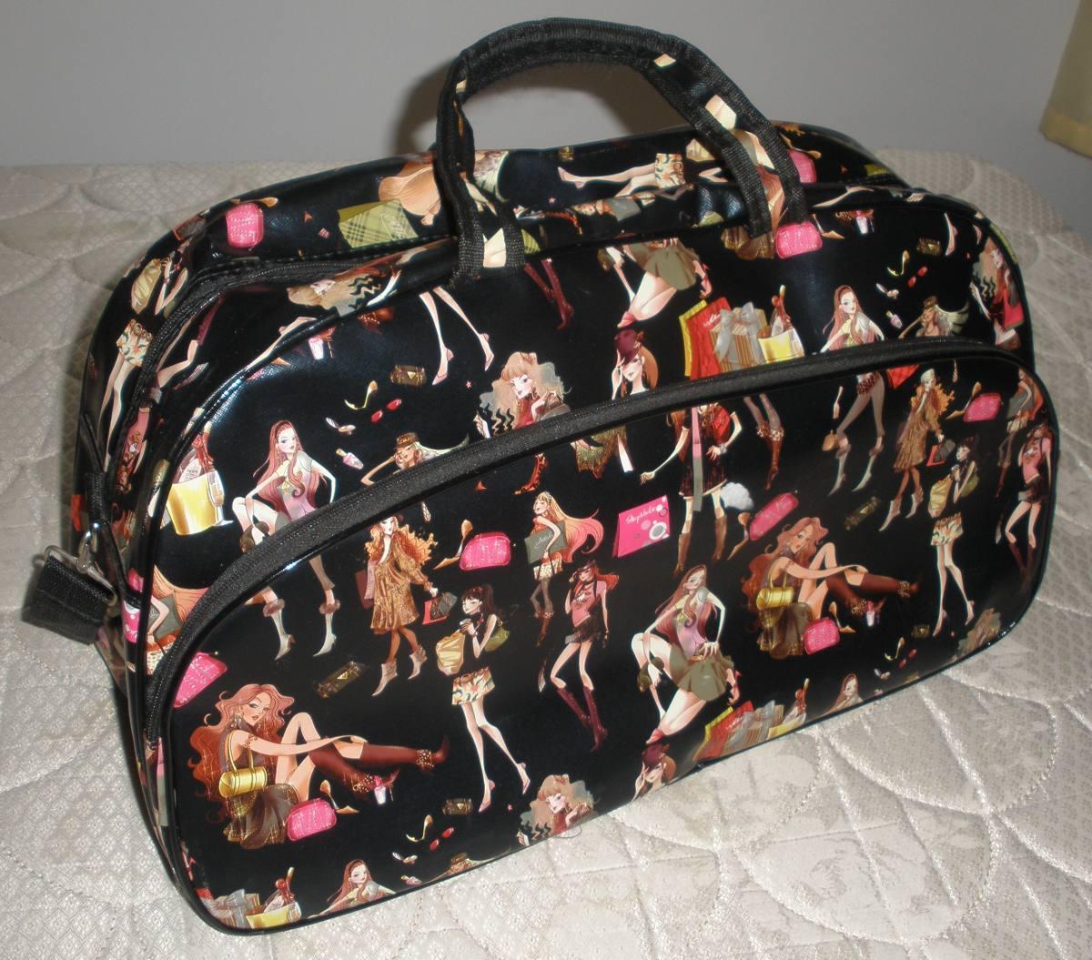 Bolsa De Viagem Feminina Grande : Bolsa sacola viagem feminina grande estampada r