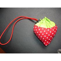 Bolsa Sacola Eco Bag Morango De Nylon Promoção