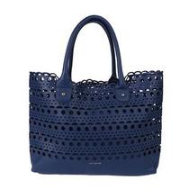 Bolsa Lelis Blanc Azul Marinho Com Detalhes Vazados