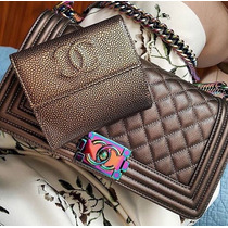 Chanel Le Boy Furta-cor 25cm 100% Original...
