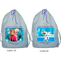 Bolsa Mochilas Personalizadas 25 Peças 25x30 Tema Frozen
