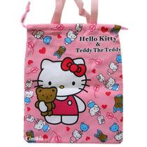 Bolsa Hello Kitty E Teddy Pink - 30cmx25cm - Nylon (novo)