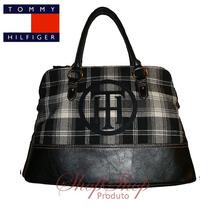 Bolsa Tommy Hilfiger Satchel Th E Base Em Couro *shopshop*