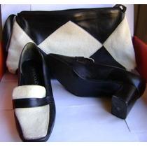 Bolsa E Sapatos Laura Porto Couro Leg. Conjunto (mal.01)