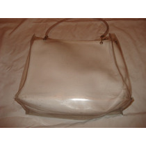 Bolsa Branca Com Plastico Externo Transparente