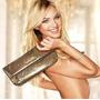 Victoria Secret Clutch Bolsa Preta Dourada Ou Prateada