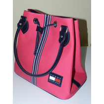 Bolsa Modelo Tommy Hilfiger Pink Tipo Sacola Frete Gratis.