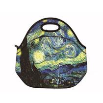 Lancheira Bolsa Térmica Neoprene Van Gogh Noite Estrelada