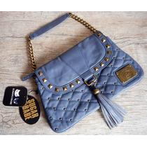 Bolsa Azul Jeans Matelassê & Alça Correntes - Sugar & Babe