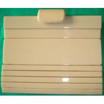 Carteira De Mão Em Acrílico Creme - Vintage