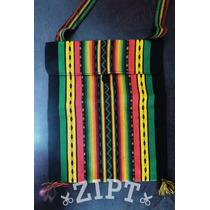 Bolsa Transversal Rastafari - Cores Do Reggae | Lã Peruana