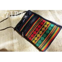 Bolsa Peruana Transversal - Pequena | Pink Ou Cores Reggae