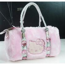 Bolsa De Mão Hello Kitty Linda De Viver Rosa E Prata