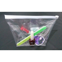 Necessaire Transparente Com Ziper Plastico