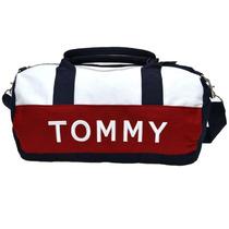 Tommy Hilfiger Mini Duffle Azul, Rosa E Bege Promoção